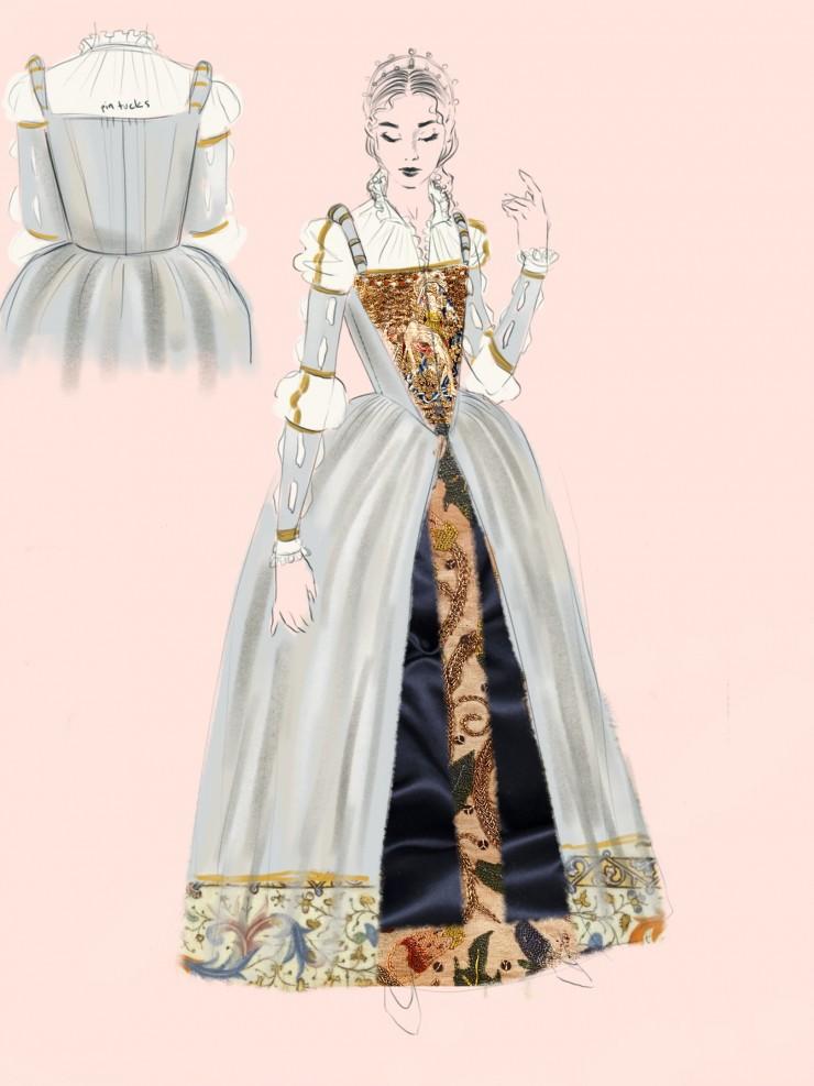 Conceptual development sketches for final garments.