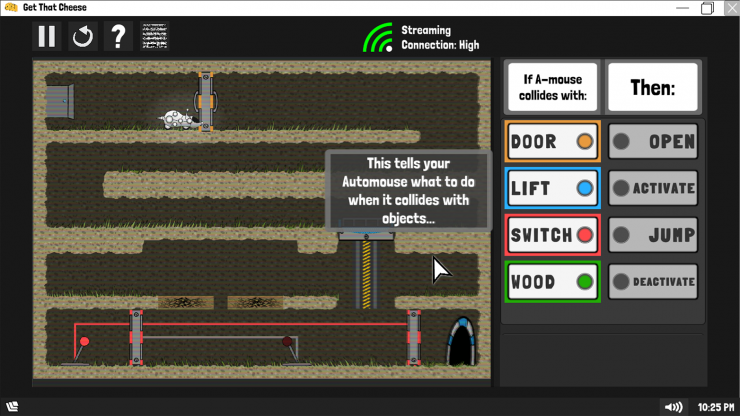 Image of Automouse tutorial level.
