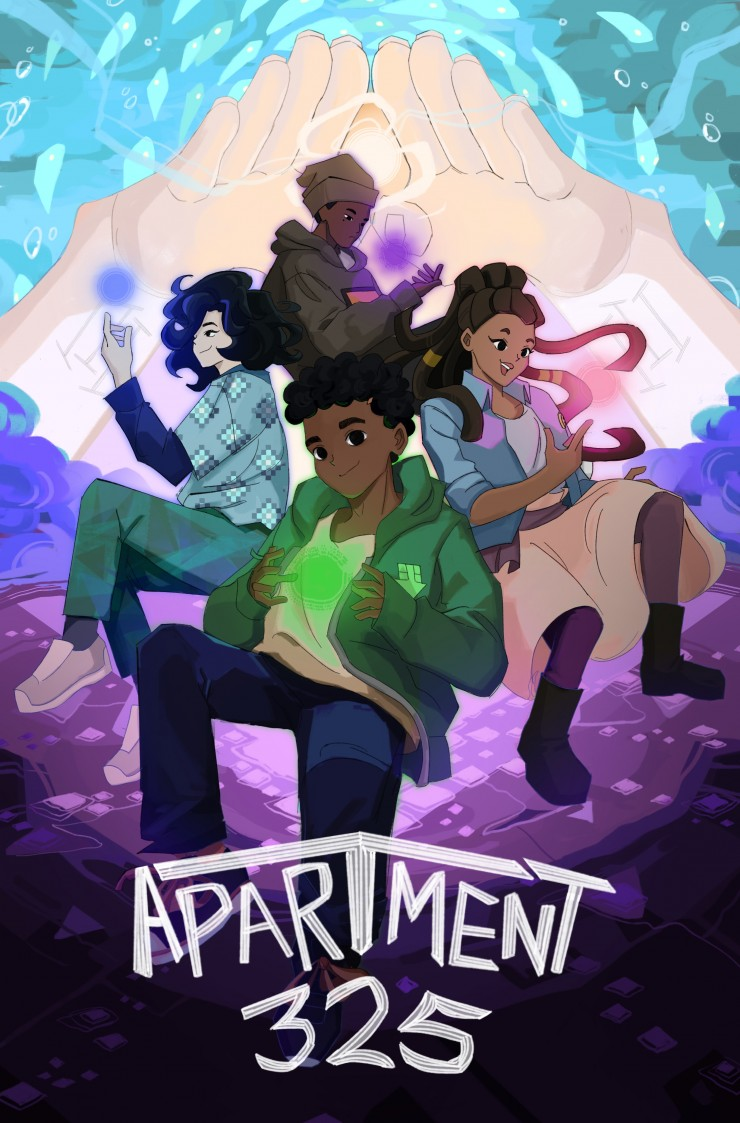 The series illustration for the webcomic, Apartment 325.