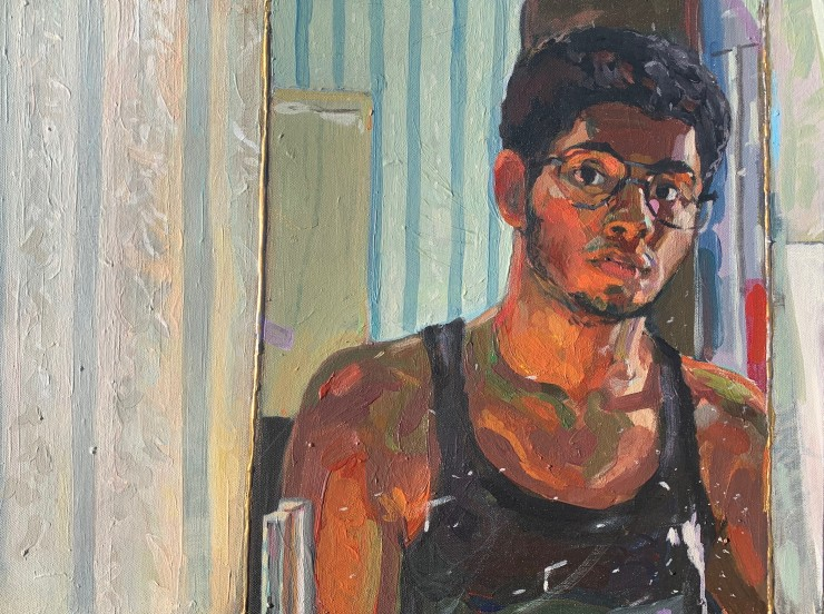 Self Portrait. 18x24 inches