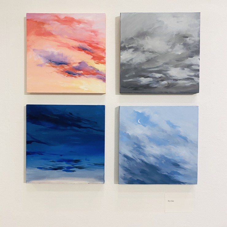 A series of oil paintings from senior year, Ivy recorded the sky and the clouds everyday which are also showing a part of her own moods.