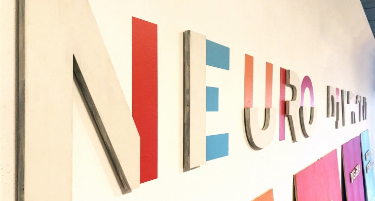 The title is part dimensional lettering and part flat to make viewers look at it differently. This reinforces the idea that those with learning disabilities must learn in different ways.