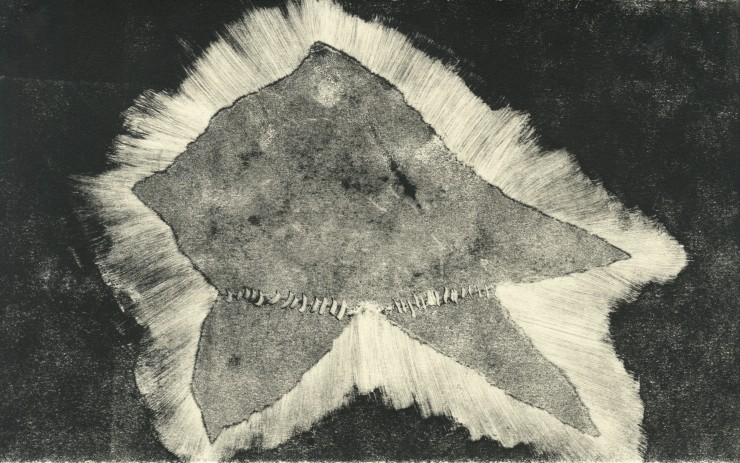 print media of a star-shaped form