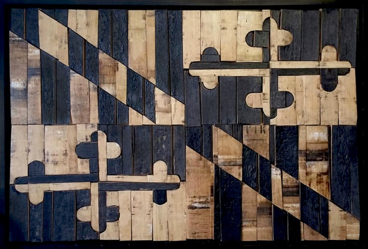 Maryland Flag made of wood
