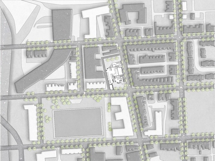 Perspective renders and floor plans of The Urban HUB at Johnston Square.