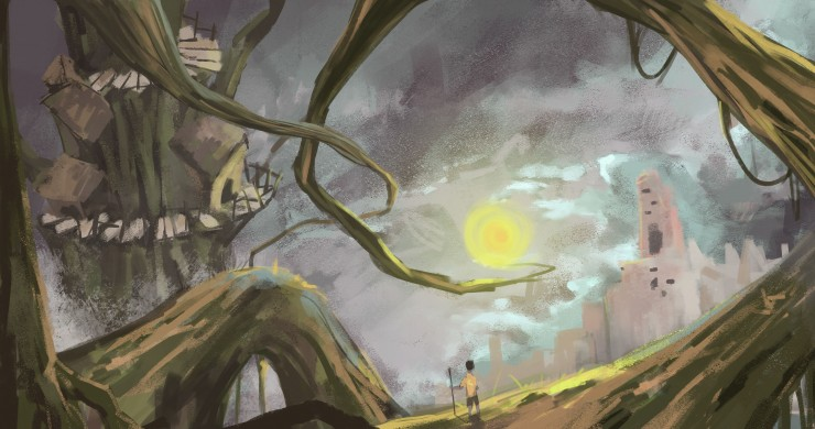 Environment concept designs for an animated tv show.