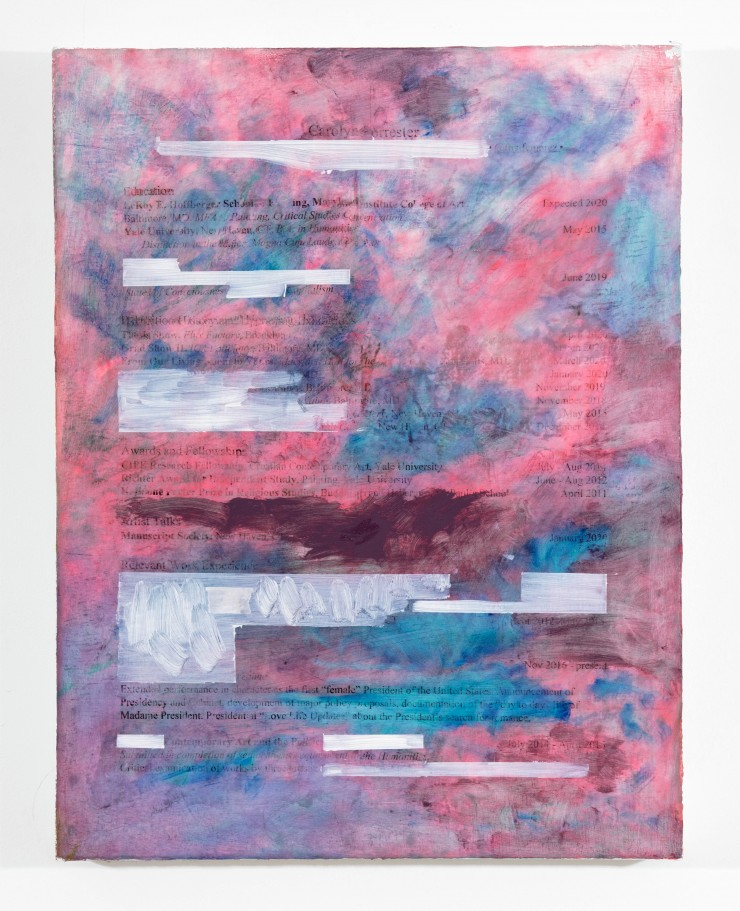 Resume Painting Four by Carolyn Forrester