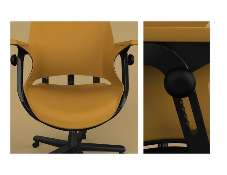 Detail of chair in Keyshot CAD rendering