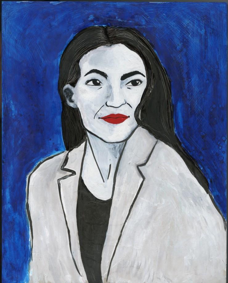 Portrait of Alexandria Ocasio-Cortez