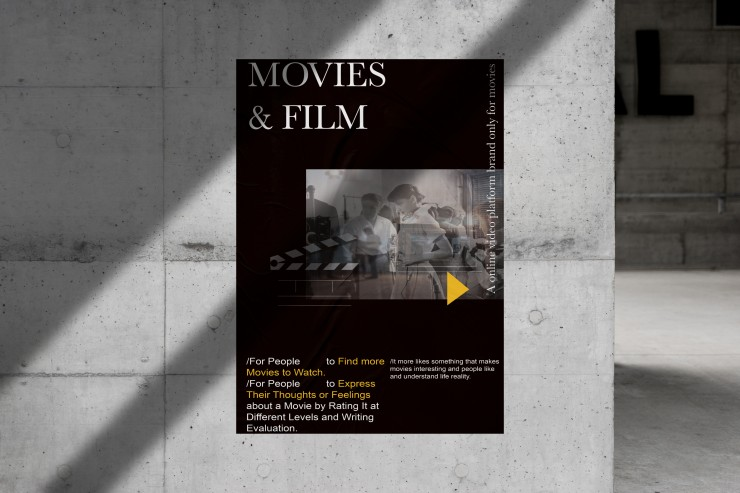 M&F means Movies and Film. The poster design, I want the image to make the poster more representative of the movie. This is also part of the introduction of the M&F video site.