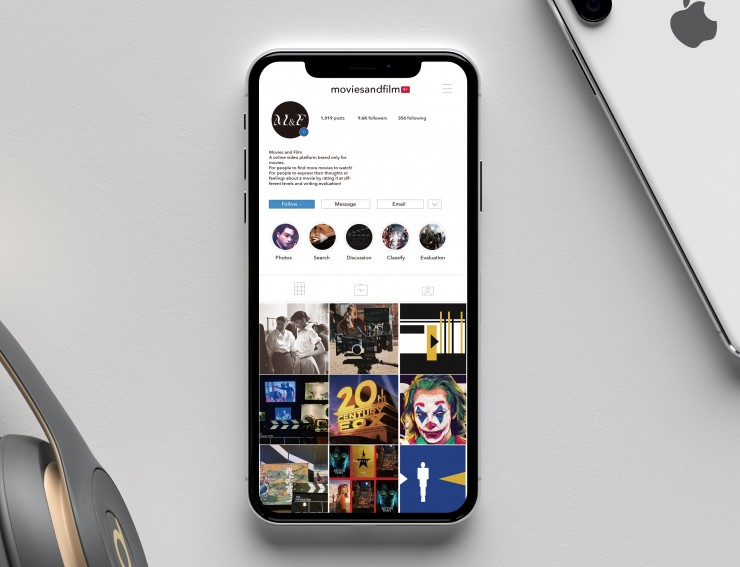 Social media is the corresponding instagram pages of M&F video websites. It contains stage photos of movies and evaluations of the movies on the site, and serves as a social networking platform for movie lovers.