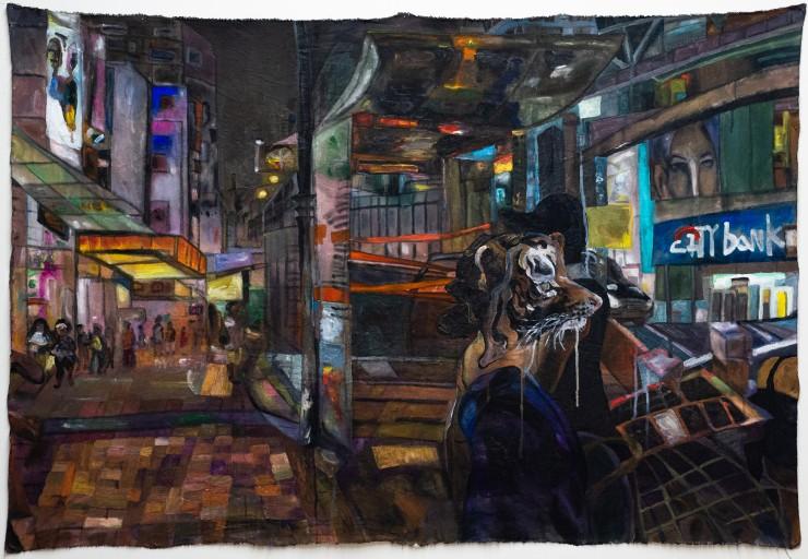 a visual narrative of a young women going home in HongKong in winter 2019