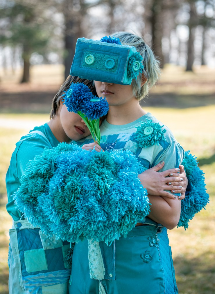 Soft Game is a collection of playable garments that explores concepts of personal and shared space. When gaming elements transform into real accessories and garments on a participant's body, playing games becomes a physical challenge.