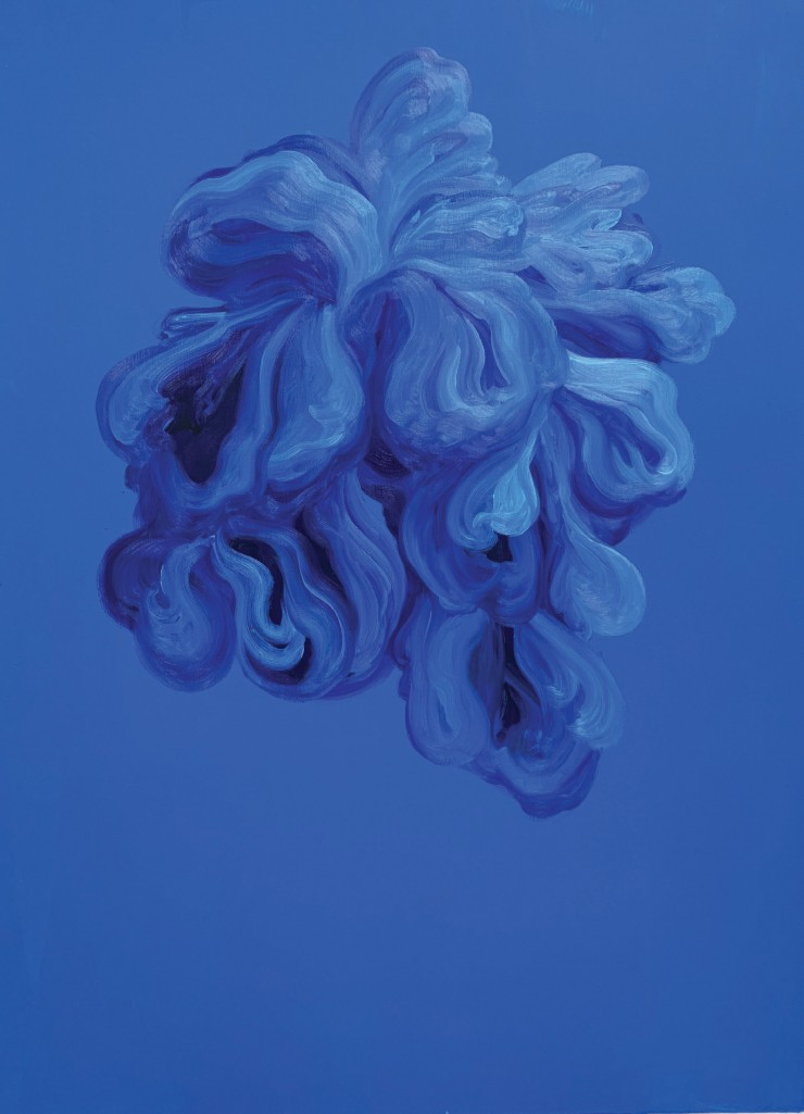 Untitled (Blue flowers #3) by Shelby Corso