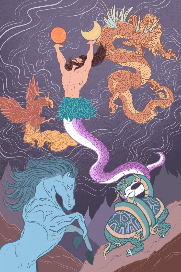 The Fashioner of the Universe from Chapter III: Cosmogony-p'an Ku and the Creation Myth