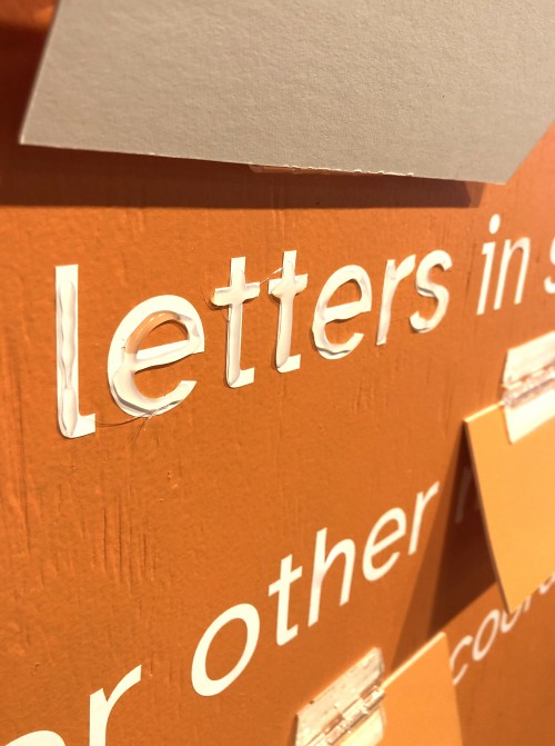 People with Dyspraxia often use tactility to help them learn how to read and write. These letters are raised to emulate fine motor coordination issues.