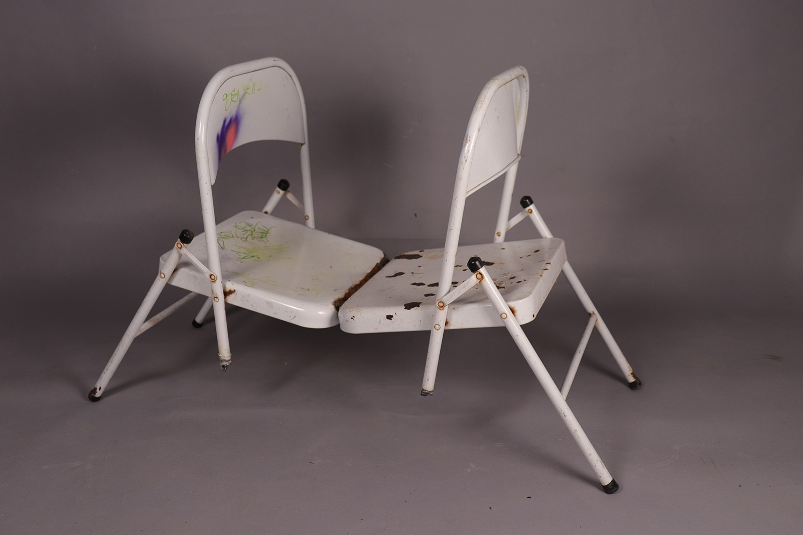 Welded Chairs. Two Folding Chairs
