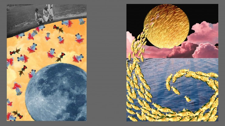 These are the digital collages I feel like representing my idea the most.