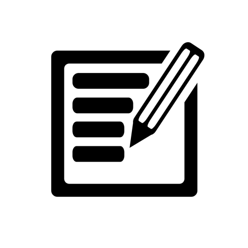 Icon - pencil and paper