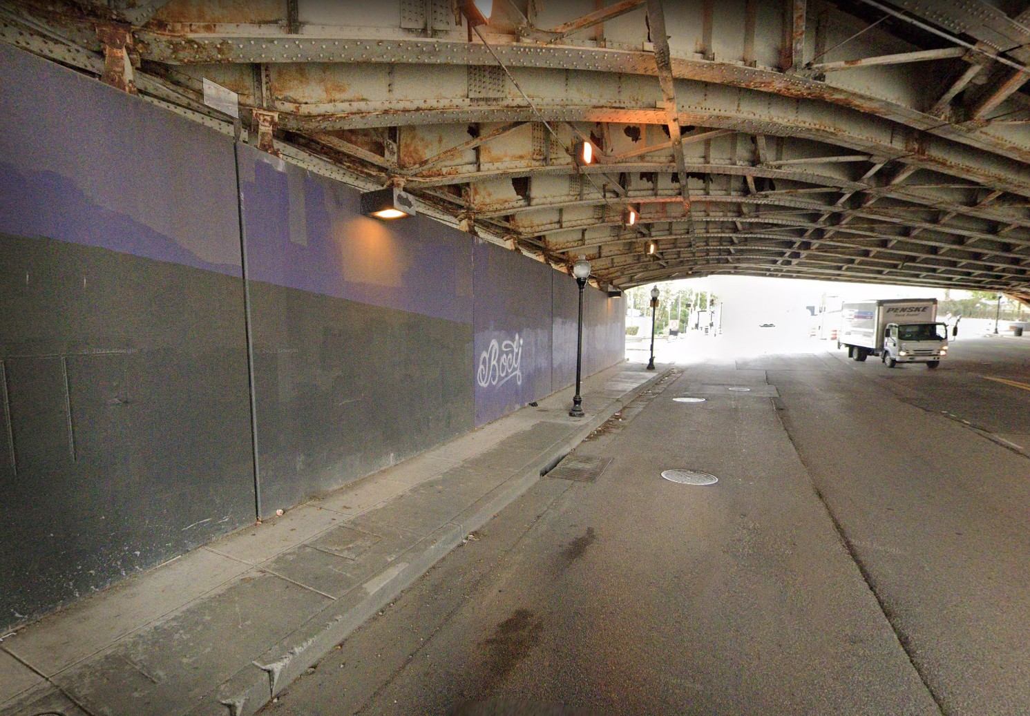 north wall of the I-83 underpass at North Avenue