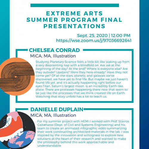 HEMI/MICA Extreme Arts Summer Program event 9/25/20.