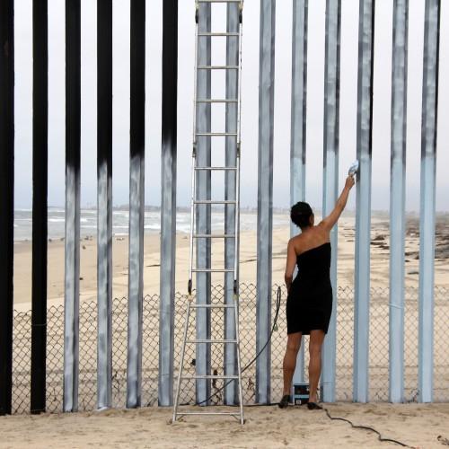 Ana Teresa Fernandez, Erasing the Border (Borrando la Frontera), video still, 3 minutes 38 seconds, 2012. Courtesy of the Artist and Gallery Wendi Norris, San Francisco.