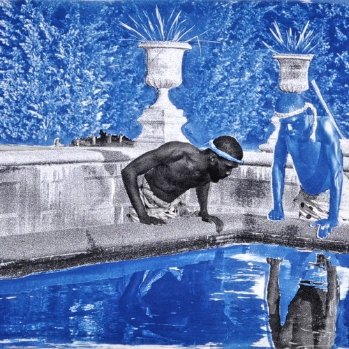 Ivan Forde, Reflection (After the Deluge), silkscreen and cyanotype on archival paper, 18in x 24in, 2015. Courtesy of the Artist