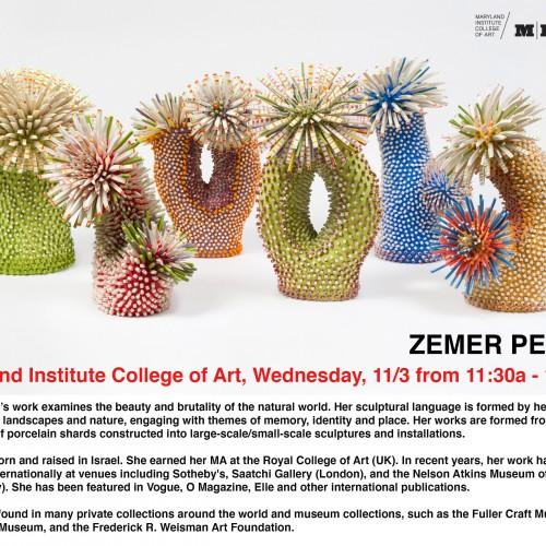 Zemer Peled Visiting Artist Lecture Flyer