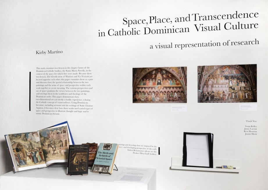 Research exhibit by Kirby Martino