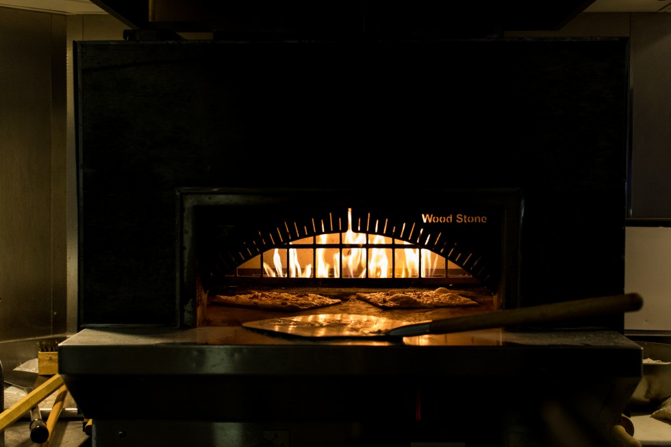 Pizza oven in Glace Grill.