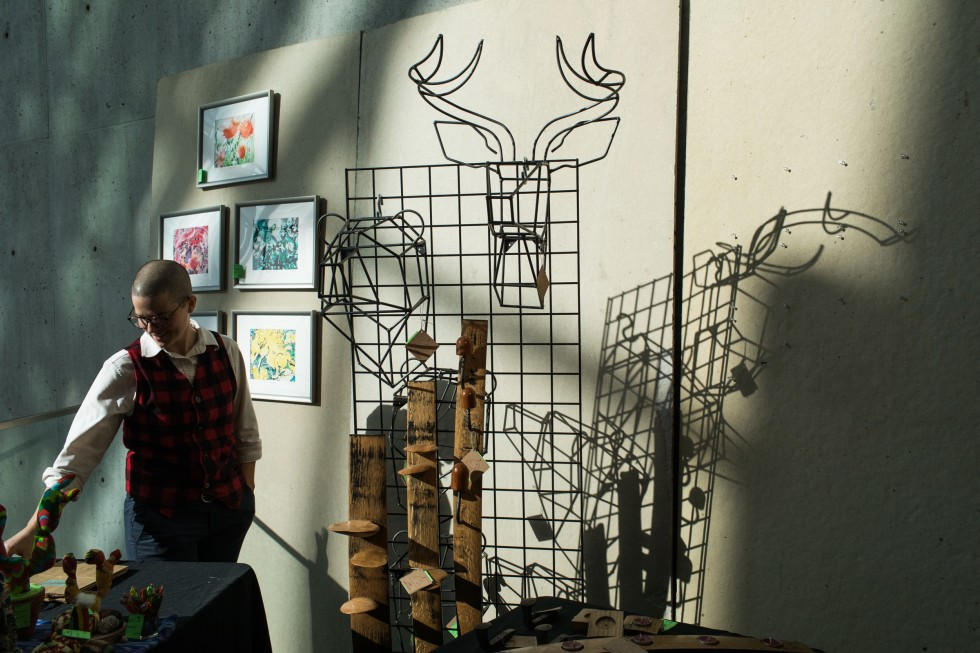 A booth at Art Market