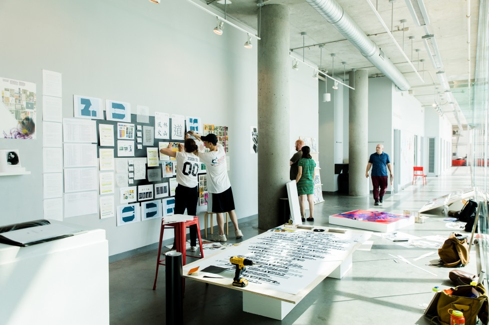 Installing the Graphic Design Commencement Show