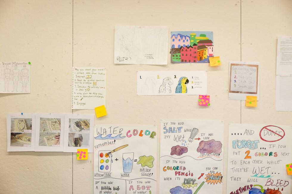 Artwork in a BFA/MAT classroom