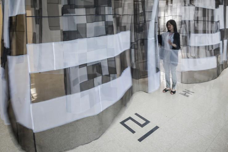 Fiber installation by Lynn Chung