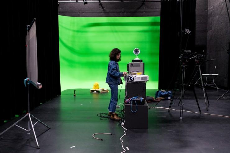 Inside the MICA/JHU Film Centre sound stage