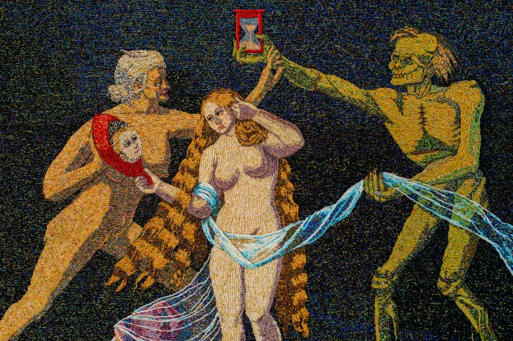 Beaded artwork by Ariel Posh