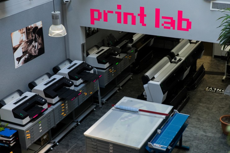 Large format printers in the Art Tech Center