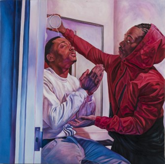Baptism painting by Tyler Ballon