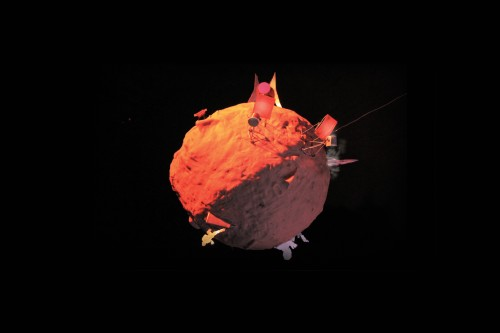 Video still of an animated mars.