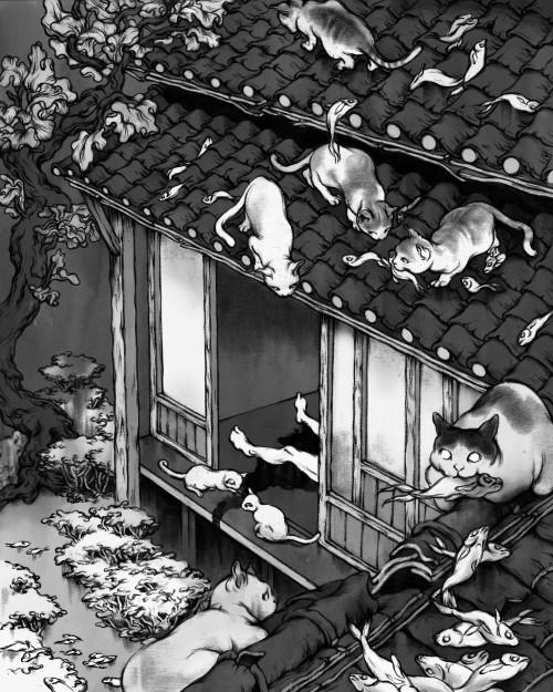 Cat Illustration by JaHyun Ashley Lim