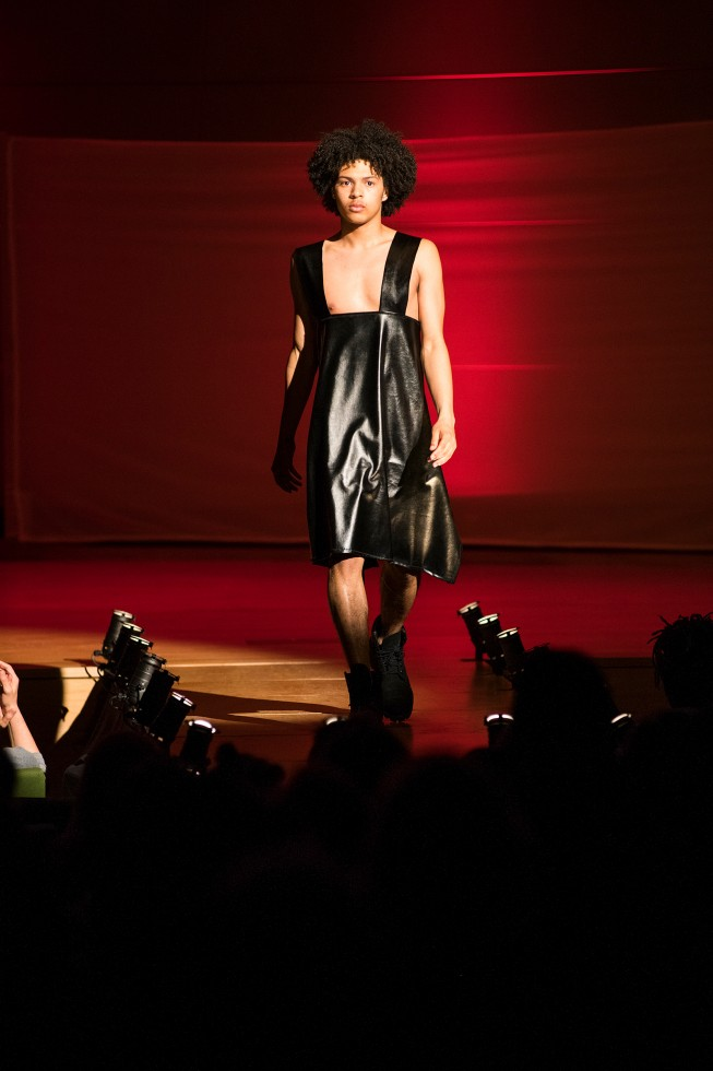 Annual Benefit Fashion Show model on stage