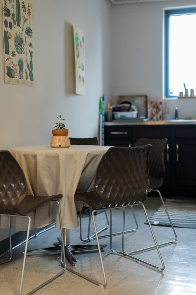 Kitchen table in a Carter Hall apartment.