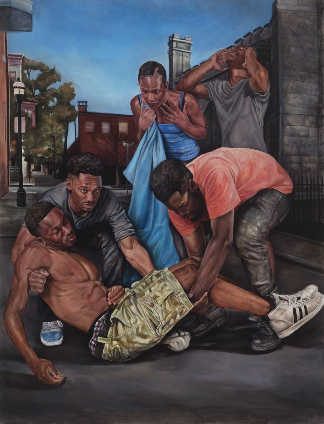Painting by Tyler Ballon