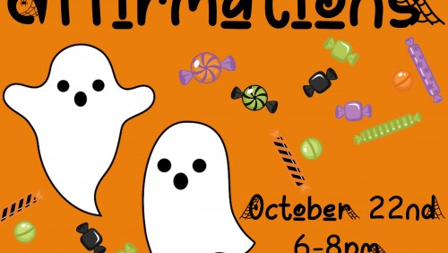 Boo! Affirmations Event Poster