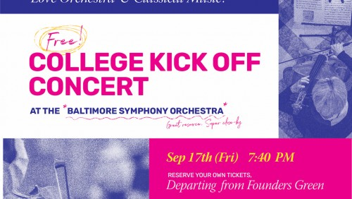 Explore Baltimore: Free College Kick off Concert @ BSO Poster
