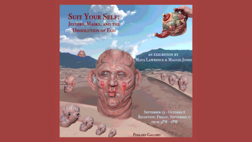 Image taken at Great Sand Dunes National Park by Maggie Jones, Sculptures included from 2020/2021 by Maggie Jones, Ceramics Major Graduating in spring 2022. The show also features work by Maya Lawrence, GFA major, Graduating in winter of 2021