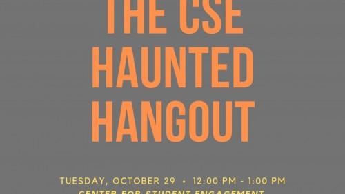 Poster Advertising the Transfer Haunted Hangout